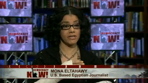 Photo: Egyptian-American journalist Mona Eltahawy talks to Democracy Now