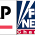Associated Press logo, Creative Commons; Fox News logo, Copyright News Corporation.