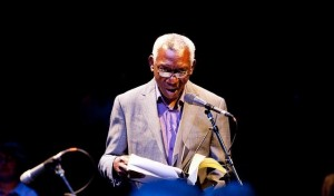 Yusef Komunyakaa on 2010 City Of Asylum's Jazz Poetry Concert. Photo © Renee Rosensteel