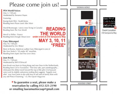 Reading the World: City of Asylum May Events