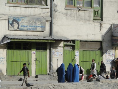 Afghan women at a market in Kabul