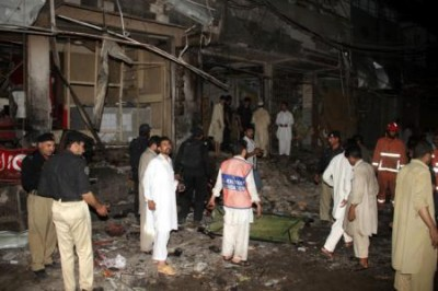 Two back-to-back bomb explosions killed 35 people in Peshawar