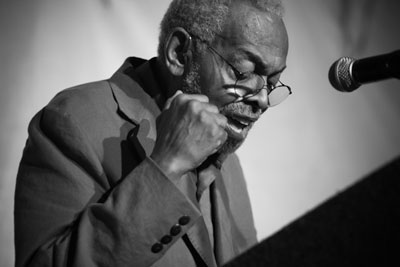 Obie Award winner Amiri Baraka commands the stage: