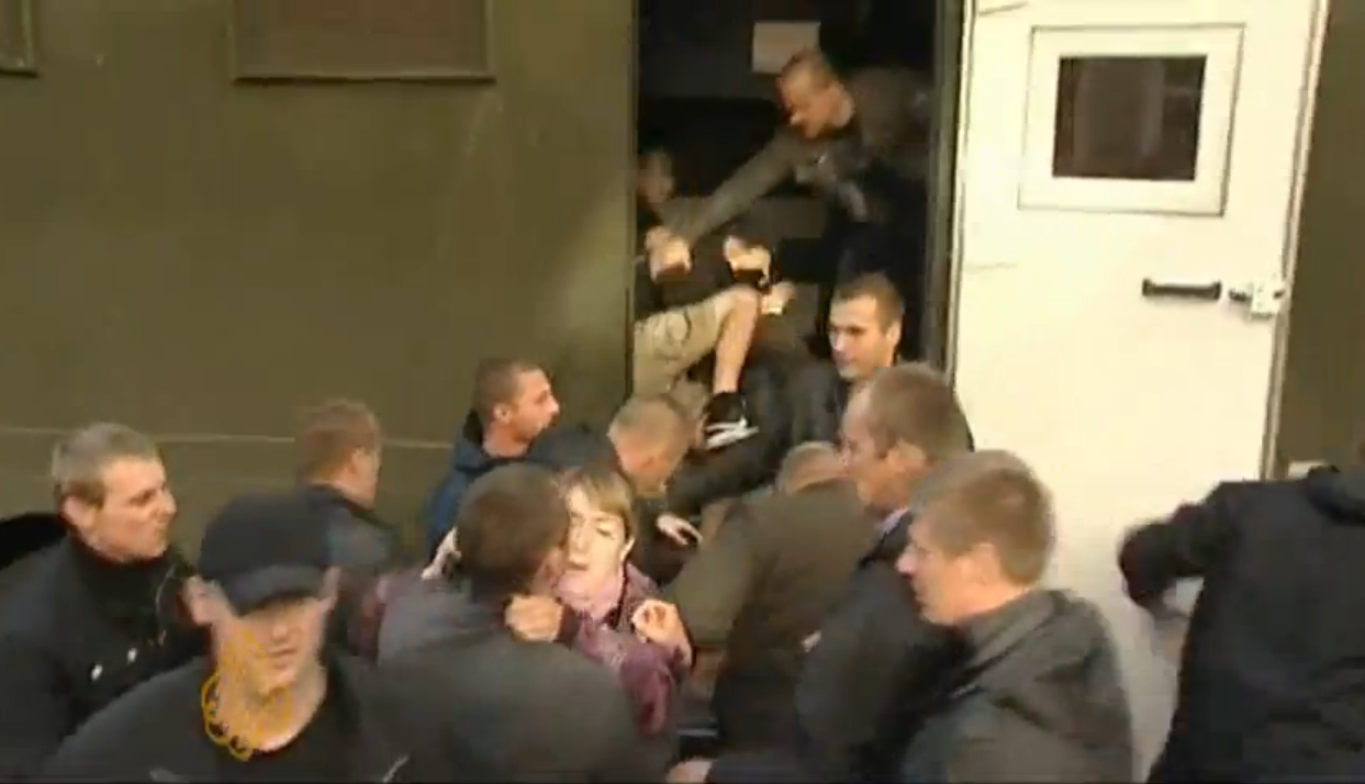 Protesters in Minsk Detained by Police