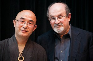 Liao Yiwu and Salman Rushdie.  Photo © Beowulf Sheehan/PEN American Center