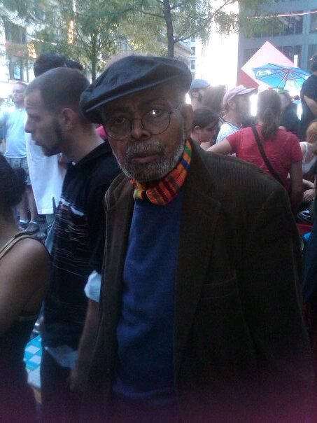 Amiri Baraka at Occupy Wall St. Photo posted in Baraka's Facebook page by Ngoma Hill.