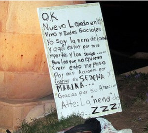 Note found next to body of Maria Elizabeth Macias. Photo: www.cpj.org