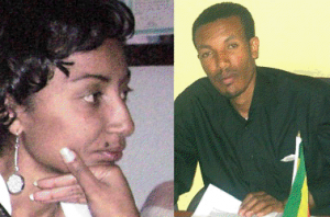 Columnist Reyot Alemu and Editor Wubeshet Taye, Arrested for Terrorism. Photo: addisvoice.com