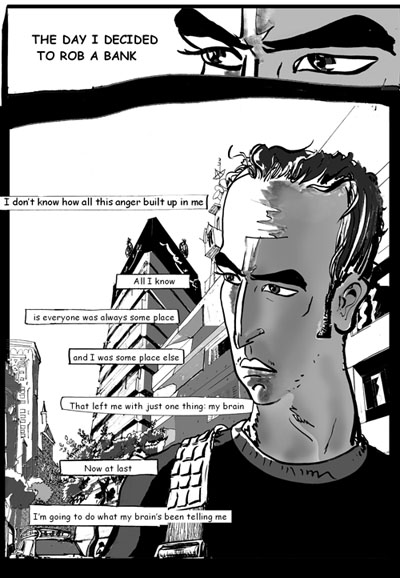 First page of Metro, a graphic novel by Magdy El Shafee