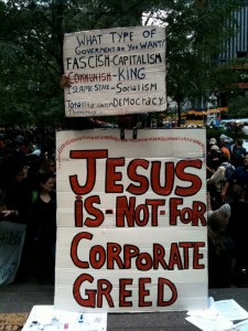 Occupy Wall St. Sign, photo by Shteyngart