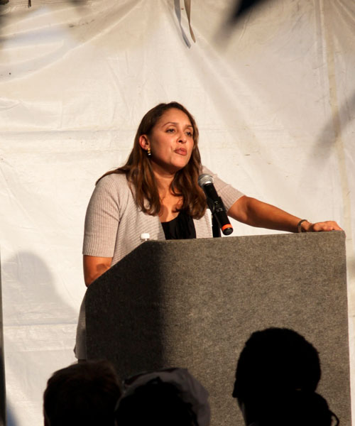 Natasha Trethewey reads at Cave Canem 2011. Photo: Rachel Eliza Griffiths