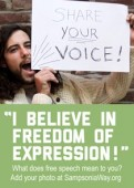 Freedom of Expression Campaign Sidebar