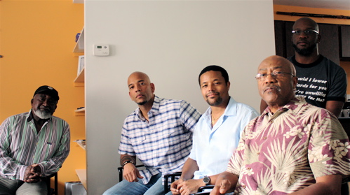 Thaddeus Mosley, Eric Revis, Nasheed Waits, Oliver Lake, Orrin Evans (L to R) Photo: Joe Edgar