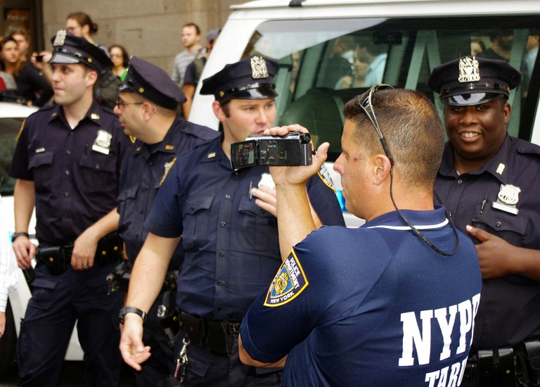NYPD Films From the Sidelines