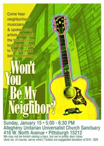 Fundraiser poster- won't you be my neighbor