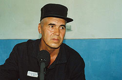 Muhammad Bekjanov in prison hospital in Tashkent, 2003. Photo: Galima Bukharbaeva, IWPR