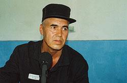 Muhammad Bekjanov in prison hospital, Tashkent, 2003