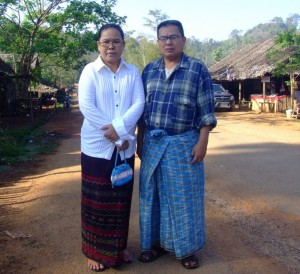 Hnin Pan Ein and husband in Nupo refugee camp