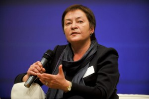 Zhanna Litvina, chairperson of BAJ, is one of several human rights defenders given travel bans over the past weeks. (Photo: © European Union - European Parliament))