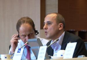 Ahmet Şik addresses Alliance of Liberals and Democrats group at European Parliament on March 28, 2012