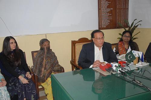 Aasia Bibi and Salmaan Taseer