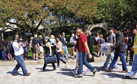 Arriving in San Antonio, The Librotraficantes Take Over the Alamo