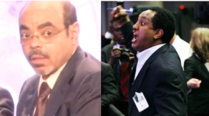 Left: Ethiopian PM Meles Zenawi. Right: Journalist Abebe Gelaw.