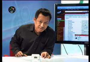 Talk2DVB anchor. Photo: Taken from youtube user DVBBurmese