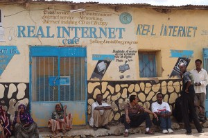 Internet cafe in Jigjiga, Ethiopia