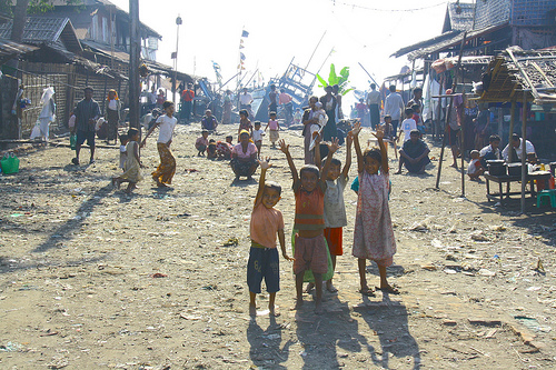 Rohingya fishing village near Sittwe, Burma