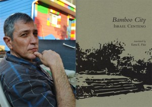 (L) Venezuelan writer Israel Centeno at his home on Sampsonia Way. (R) Cover of his latest book, Bamboo City. Photo: Camila Centeno, Wild Age Press