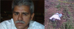 Left: Millan, 53, before his death. Right: Millan's body as it was discovered. Photos: Al Instante and Borderland Beat.