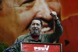 President Hugo Chávez, 2008. Photo: flickr user ¡Que comunismo!, Creative Commons