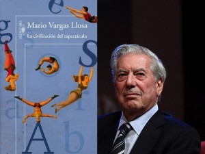 Left: La civilización del espectáculo. Right: Mario Vargas Llosa. Photo: Globovisión. Creative Commons.