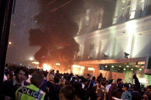 Hockey fans in Vancouver rioted after losing the Stanley Cup. Photo: Jason Hargrove. Creative Commons