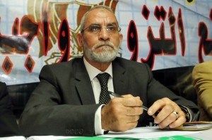 Mohammed Badie during a press conference in Cairo following the arrests of hundreds of members and supporters of the Brotherhood just prior to the parliamentary elections 2010. Photo: Wikimedia Commons