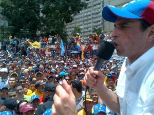 To some, opposition candidate Henrique Capriles represents change for Venezuela. Others doubt how much Venezuela's policies will ever change. Photo: Globovisión