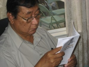 Burmese writer, artist, director, and cartoonist U Win Pe. Photo provided by Khet Mar.