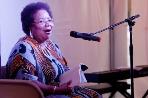 Angela Jackson at Cave Canem 2012. Photo: Renee Rosensteel.