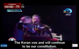 Egyptian President Morsi on May 13, 2012. Photo: Youtube user MEMRITVVideos.