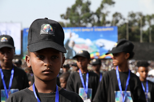Girl With Zenawi Hat