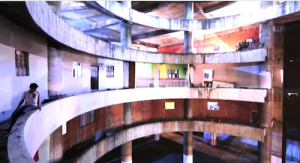 Torre David, Caracas, Venezuela. Photo from video by BiennaleChannel.