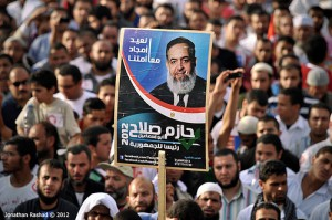 Rally for Salafi presidential candidate Hazem Abu Ismail on April 6 2012. Photo: Jonathan Rashad. Creative Commons