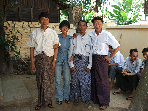 Min Ko Naing in 2004 With Other Dissidents