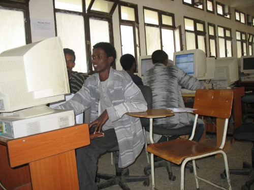 A computer lab in Mekelle University, Ethiopia.