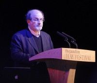 Author of The Satanic Verses and advocate for freedom of speech issues Salman Rushdie.