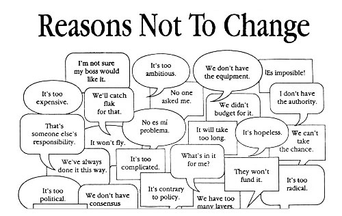 24 reasons not to change