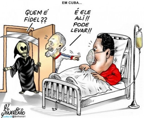 """Who is Fidel?"" ""That's him there!"" Photo: Sinfronio."