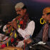 Pakistani artists play at a Sindhi musical event.