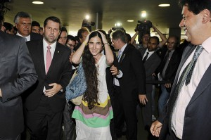 Cuban blogger Yoani Sanchez enters